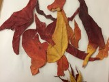 This creative fan made Pokemon with autumn leaves